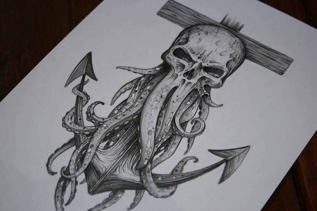 Davy Jones Tattoo-Skizze zum Thema, die ich gemacht habe! Einer meiner lieben …   – Tattoo