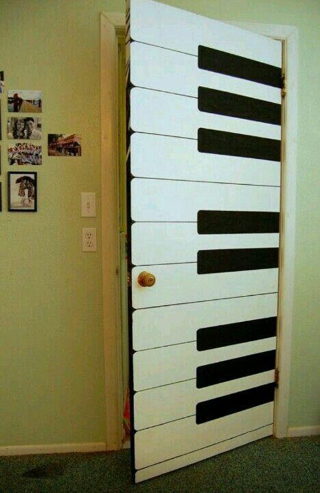 Rock and roll room door. | DIY | Music bedroom, Doors, Room