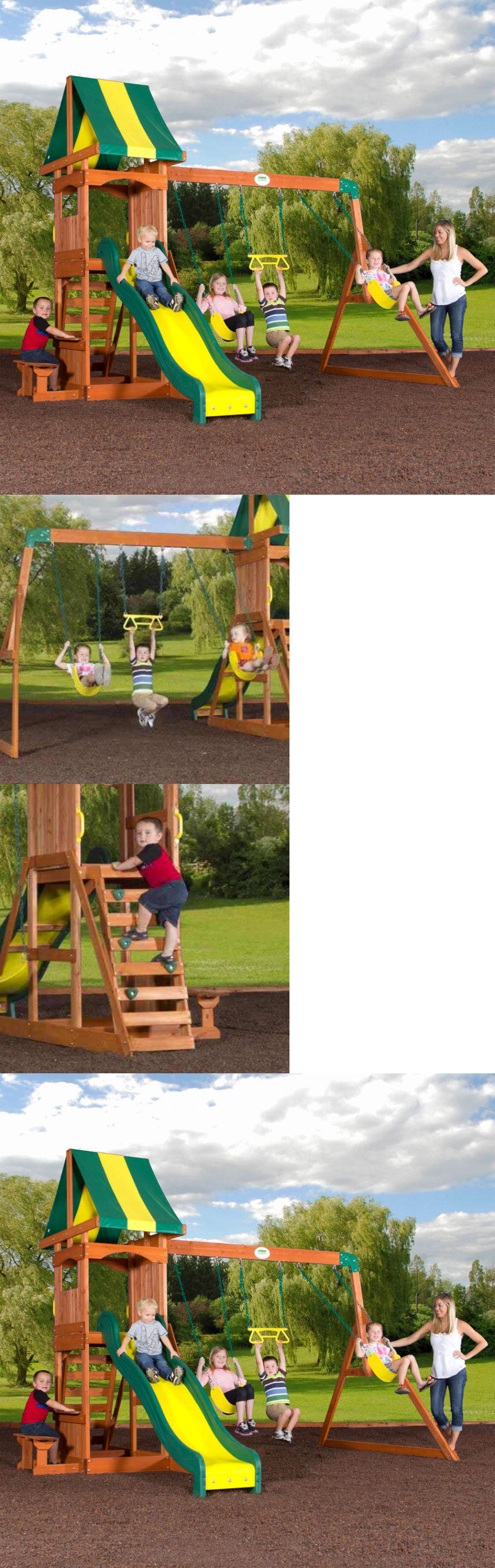 swings slides and gyms 16515 backyard discovery weston cedar