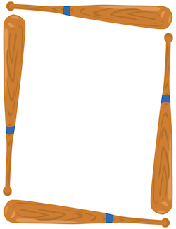 Baseball bat printable. Border borders frames posters