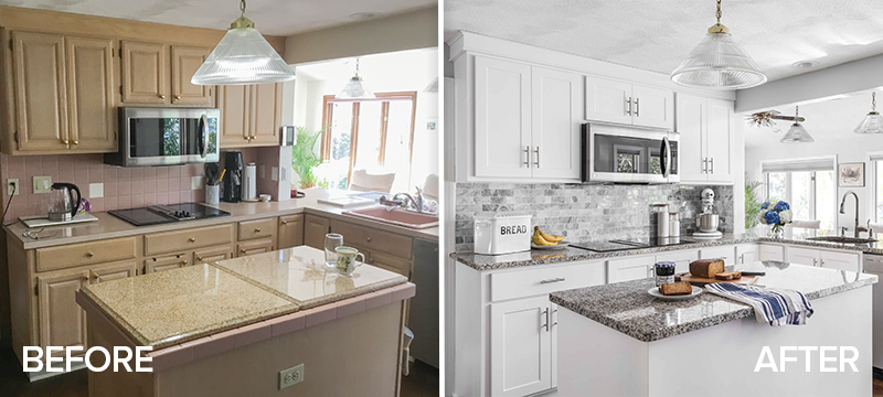 Amazing Kitchen Refacing Transformations With Before After Photos In 2020 Cost Of Kitchen Cabinets Kitchen Cabinets Prices Refacing Kitchen Cabinets Cost
