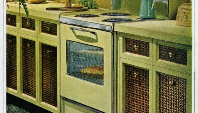 Vintage mid-sixties kitchens with Flair ranges (1965)