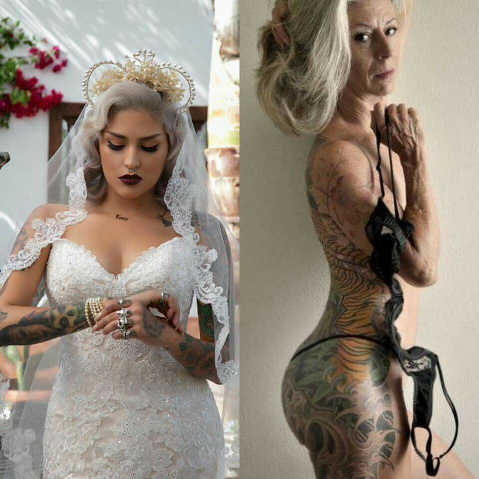 Never believe what you hear about tattoos they look the for Tattoos and wedding dresses