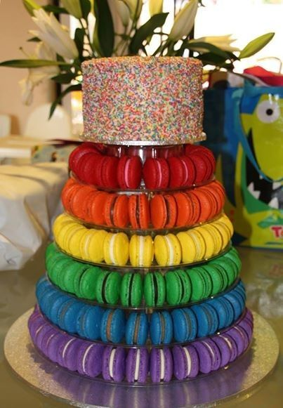 10 Tier Acrylic Round Macaron Tower Macaron Tower Unicorn Birthday Cake Cupcake Tower Wedding