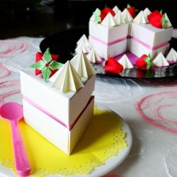 Super Origami Birthday Cake To Celebrate Online With Images Funny Birthday Cards Online Inifodamsfinfo