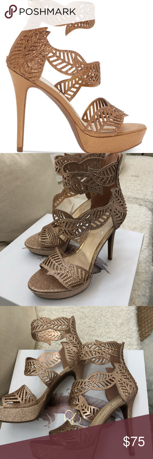 974808d914b NIB Jessica Simpson Bonilynn Moët glitter. 7.5 NIB Jessica Simpson Bonilynn  heel. Size 7.5. GORGEOUS!!!! No trades and only reasonable offers  considered.