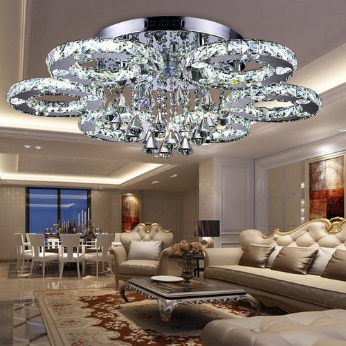 VINGO® LED Farbwechselfunktion Kronleuchter - deckenleuchte led wohnzimmer