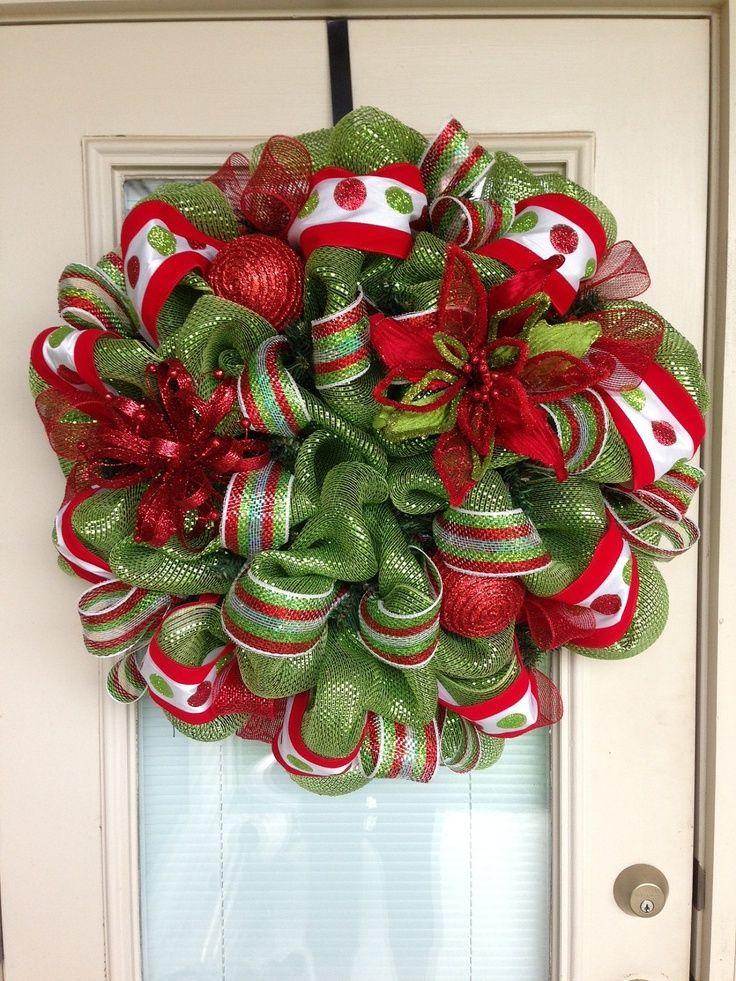 deco mesh wreaths - Christmas Mesh Wreath Ideas