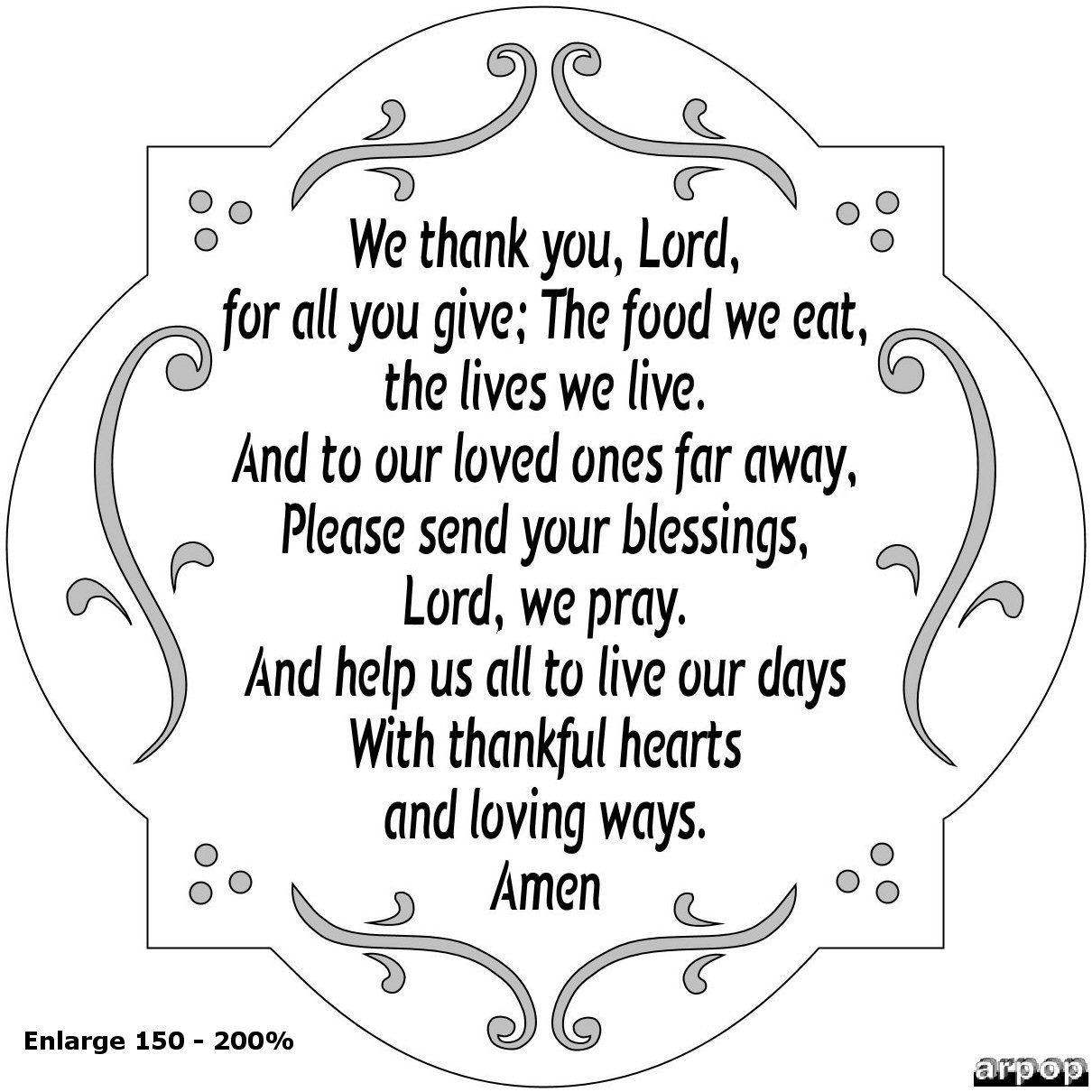 Best Thanksgiving Dinner Prayers For Kids Free Meaning