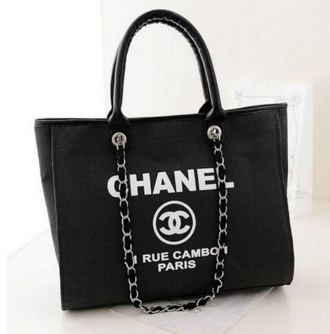 3b4f591cacae Canvas+Material.+ Beautifully+made.+Brand+new.+Inspired+by+CHANEL.  Comes+with+dustbag.+