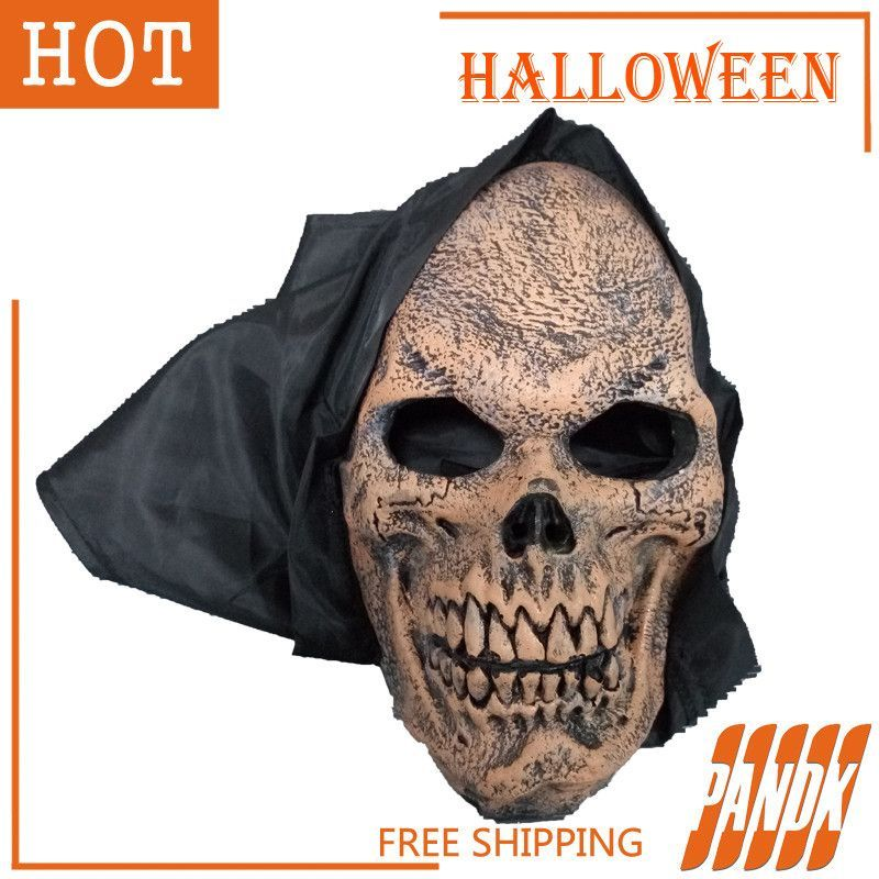 halloween props zombie ghost face mask scary halloween mask halloween decorations party dress holiday supplies