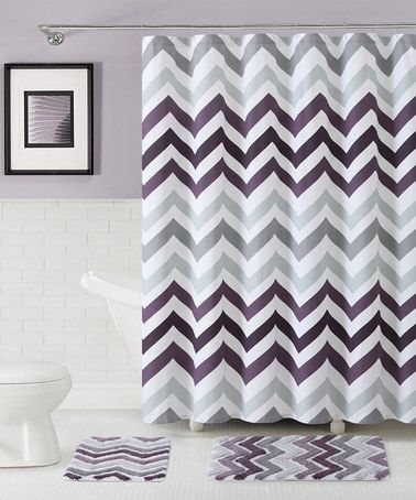 Another Great Find On Zulily Purple Corso Chevron Shower Curtain