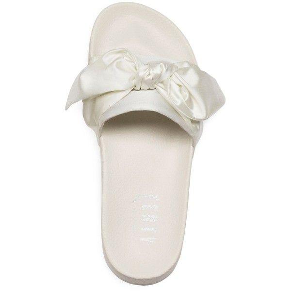 Fenty Puma x Rihanna Women's Satin Bandana Pool Slide Sandals (1.282.750 IDR) ❤ liked on Polyvore featuring shoes, sandals, puma sandals, slide sandals, satin sandals, puma footwear and puma shoes