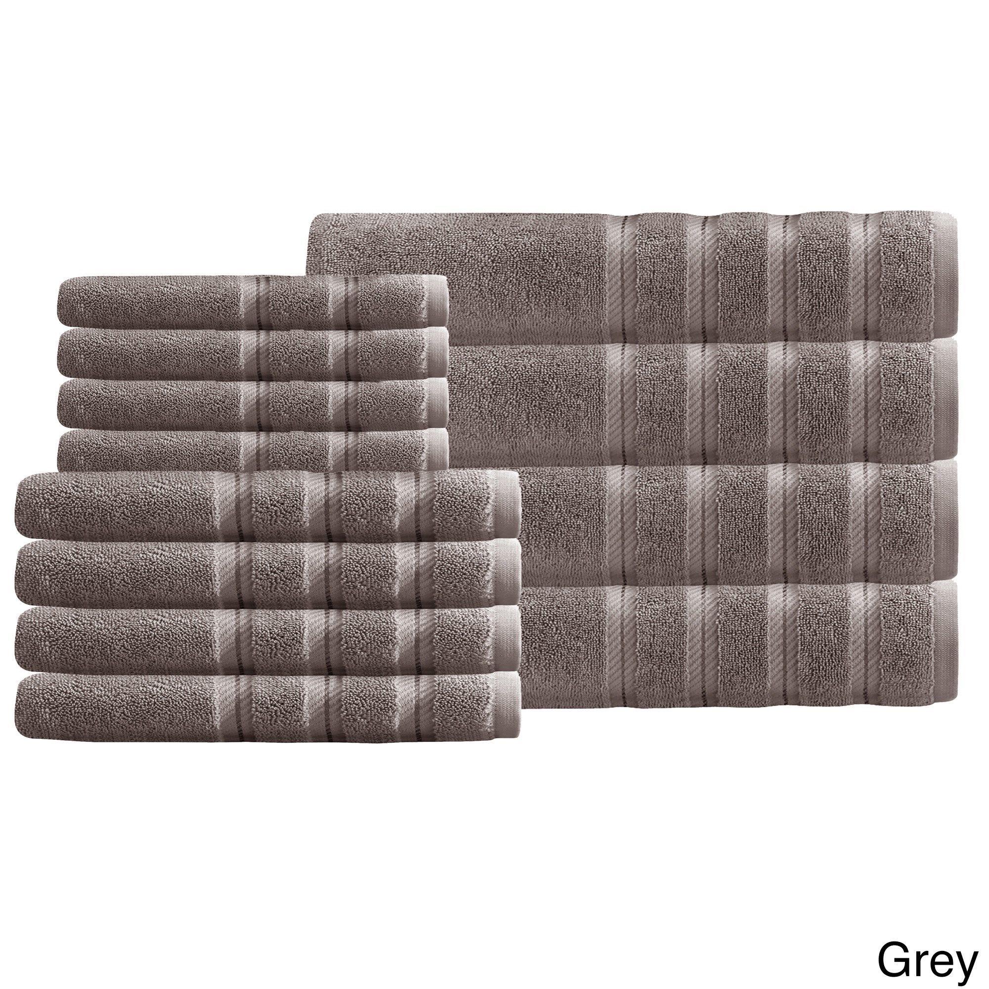 Antalya Collection Salbakos Luxury 600 GSM 12-piece Towel Set