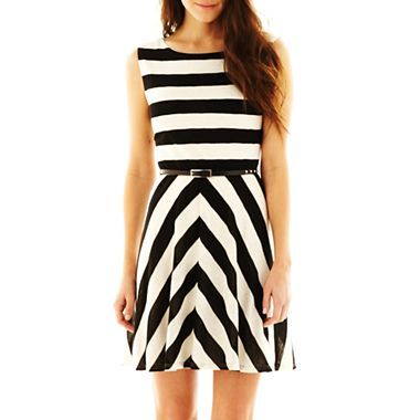 ab71368adc Striped Skater Dress - jcpenney