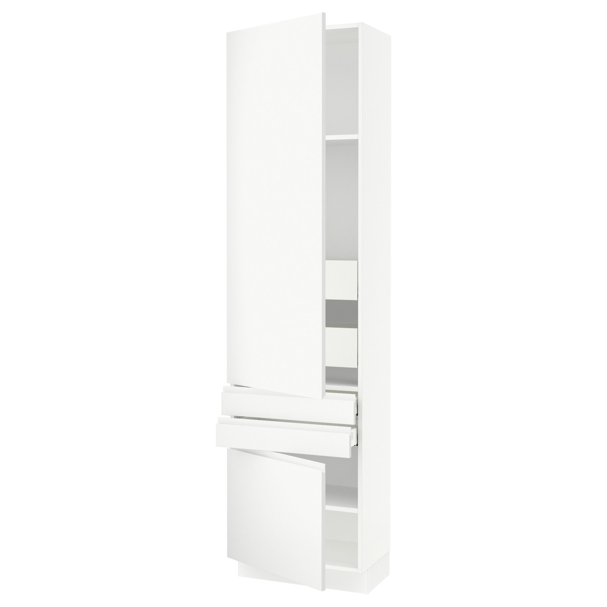IKEA - SEKTION white High cabinet w/2doors & 4 drawers Frame colour: