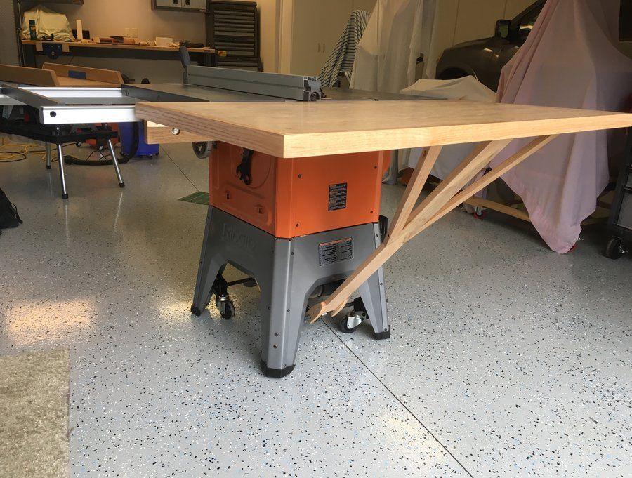 Ridgid R4512 Tablesaw Outfeed Table - by Mikemccind @ LumberJocks.com ~ woodworking community