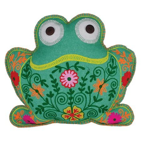 Tissue holder blue and white cotton frog design cotton case frog fabric