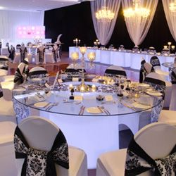 Banquet Table Whether It S An Intimate Wedding Or A Gala Ball Our Illuminated Banquet Tables Give That Soft Yet Da Banquet Tables Furniture Hire Wedding Costs