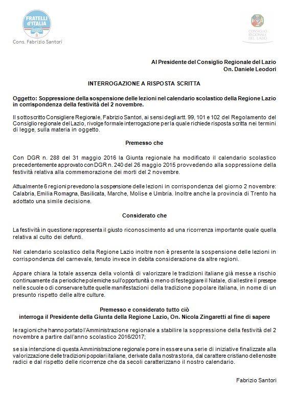 Calendario Scolastico Regionale Calabria.Ho Presentato Un Interrogazione Sul Calendario Scolastico