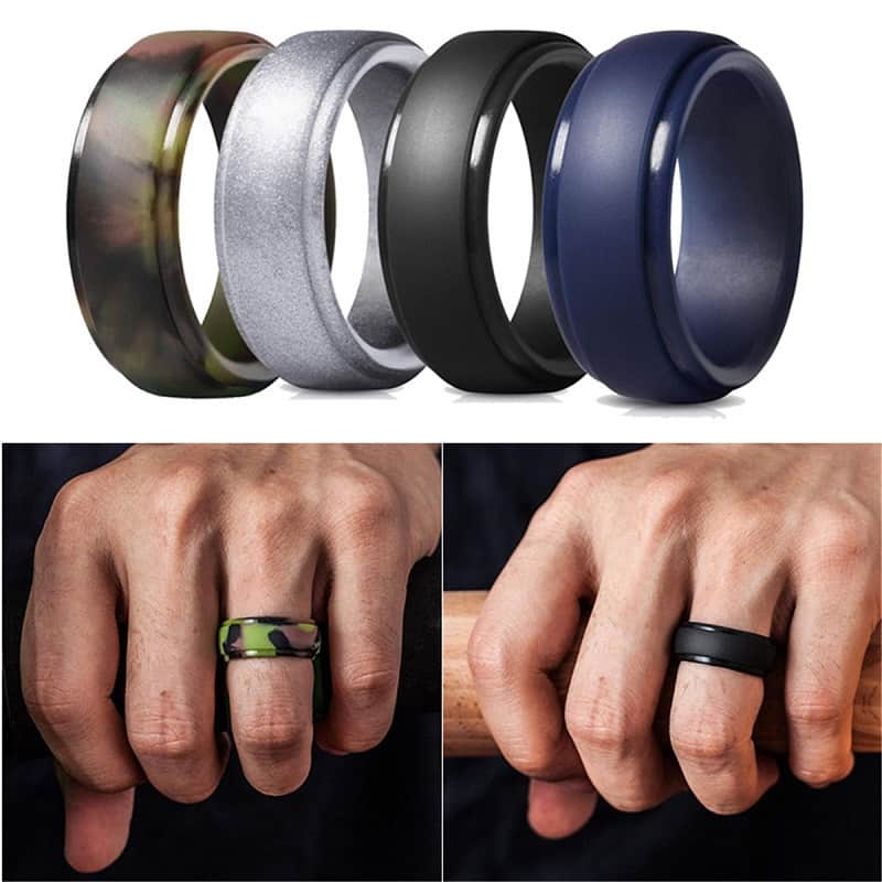 Best Silicone Wedding Band Lian Carlo In 2020 Silicone Wedding Band Rubber Rings Wedding Rubber Wedding Band