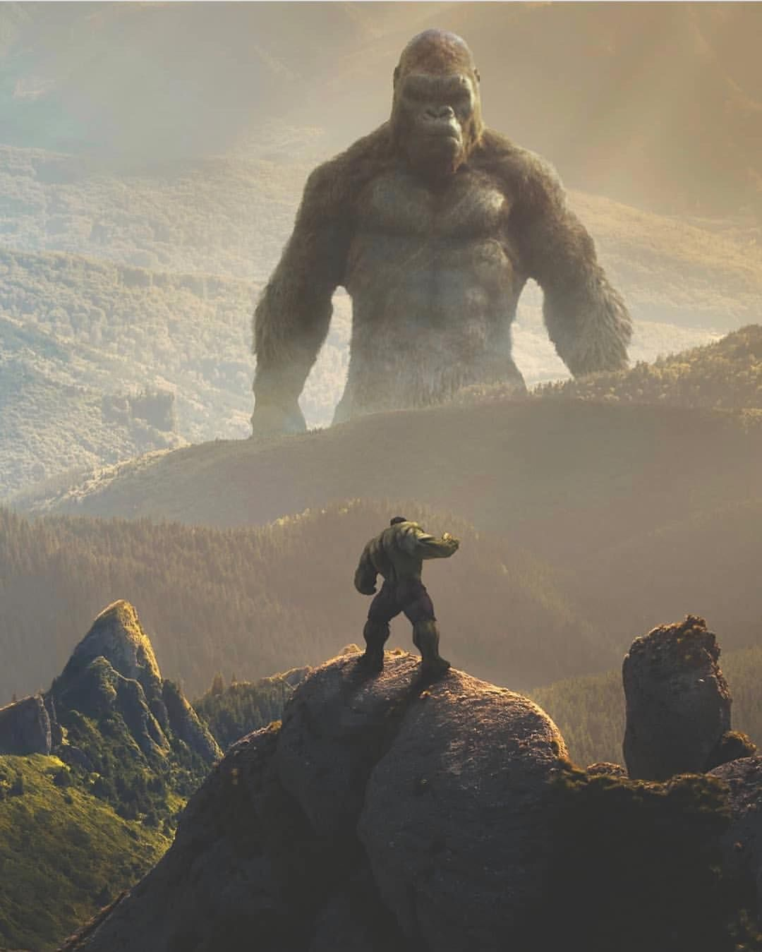 King Kong Vs Hulk Movie Wowwww this mas...