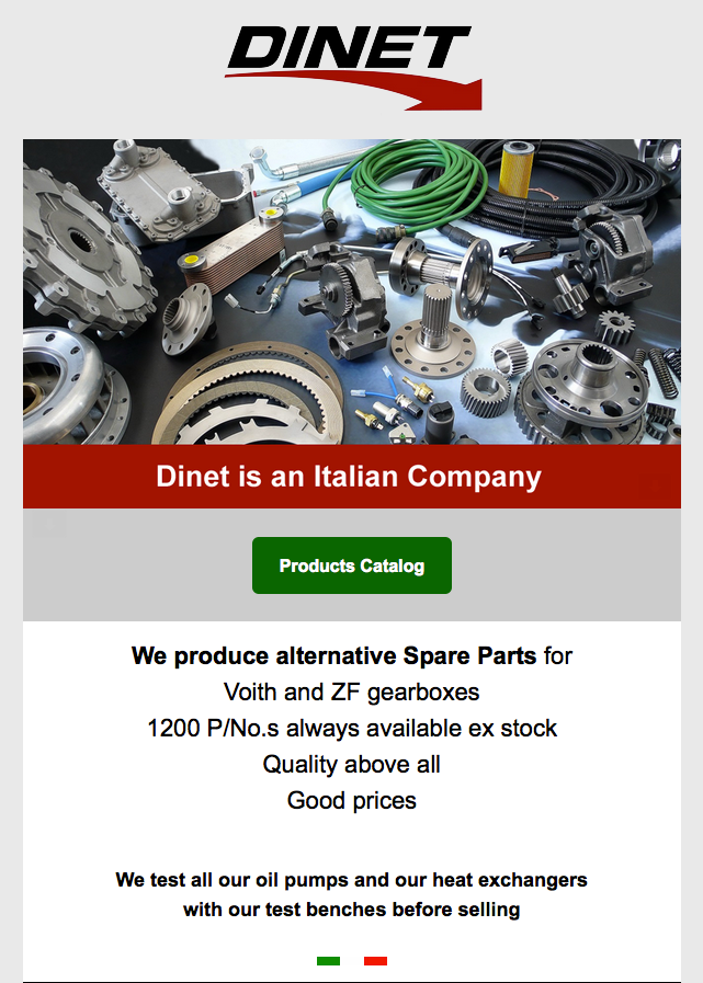Dinet spare parts for ZF Ecomat series  For more infos: www