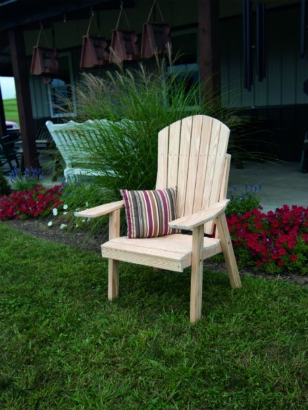 Outdoor Upright Adirondack Chair Unfinished Pine Amish Made Usa Ebay Comfortable Outdoor Chairs Adirondack Chair Adirondack Chairs Painted