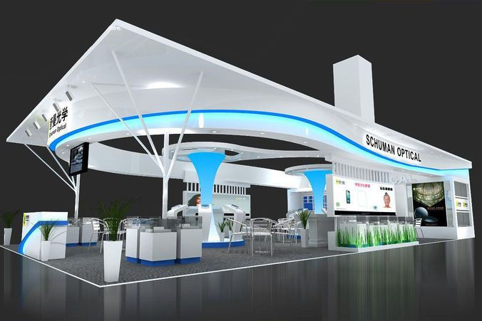Exhibition Stand Vray : Area: mm render scene with dmax and vray