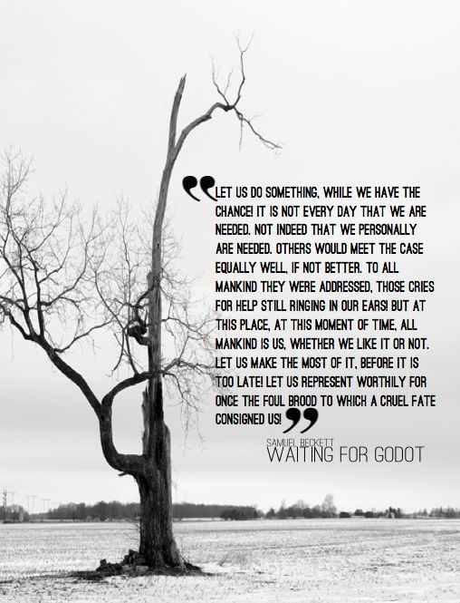 analysis of samuel beckett s waiting for Waiting for godot is one of samuel beckett's most famous plays it shows how vladimir and estragon wait for a mysterious character called godot it shows how vladimir and estragon wait for a mysterious character called godot.