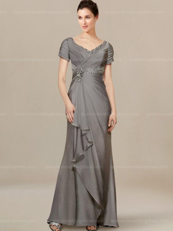 Modern Mother Of Bride Dresses With Cascade Skirt Mo214 Mother