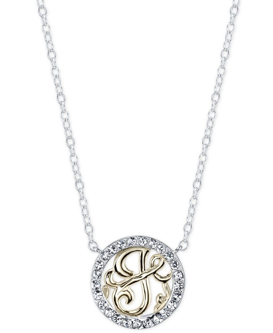 Unwritten initial j pendant necklace with crystal pave circle in unwritten initial j pendant necklace with crystal pave circle in sterling silver and gold aloadofball Gallery