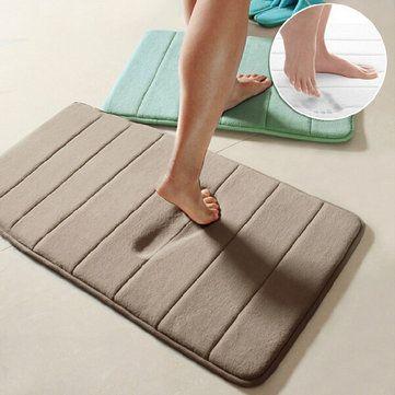 40x60cm C Velvet Memory Foam Rug Bathroom Mat Soft Non Slip Floor Carpet