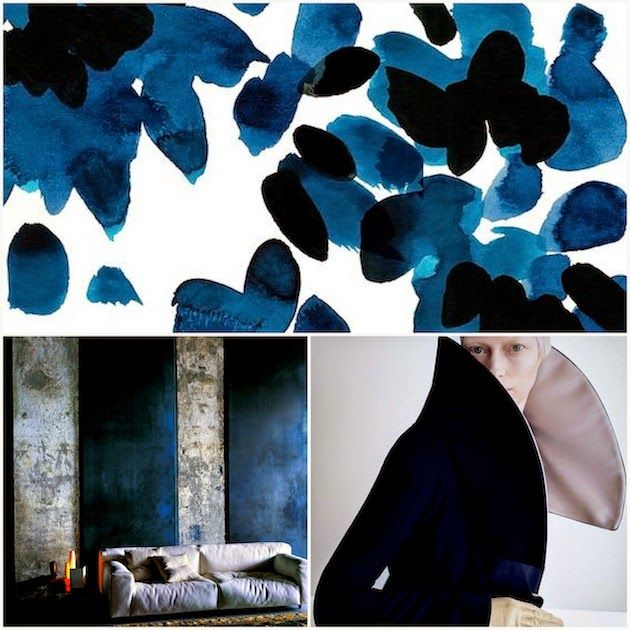 #so65 #nel blu dipinto di blu WABI SABI Scandinavia - Design, Art and DIY.: Adding deep blue color to a monochrome space