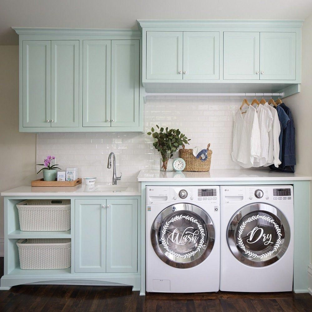 Photo of Wash and Dry Decals Laundry Room Decor, Farmhouse Laundry Decor for Washing Machines and Dryers, Washer & Dryer Decals, Laundry Vinyl Decals