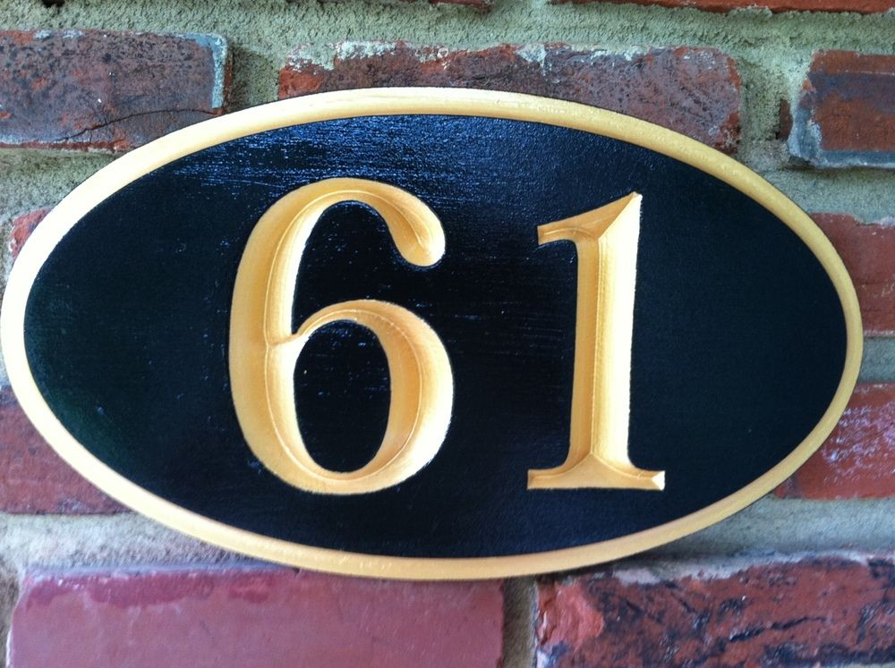 The Carving Company Full Service Custom Carved Sign House Number Recessed