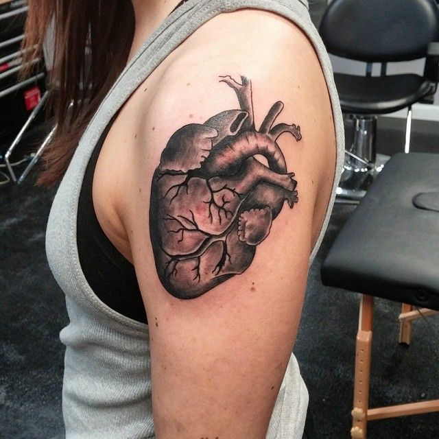 110+ Best Anatomical Heart Tattoo Designs & Meanings ...