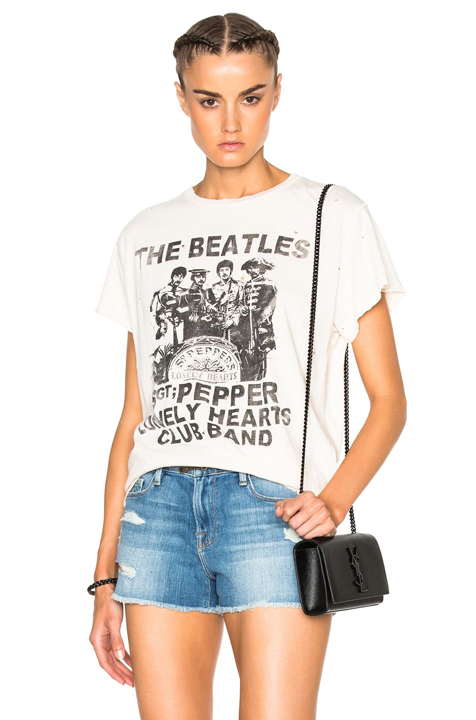 9a0697eef20b Image 1 of Madeworn The Beatles Tee in Dirty White   Wants   Band ...