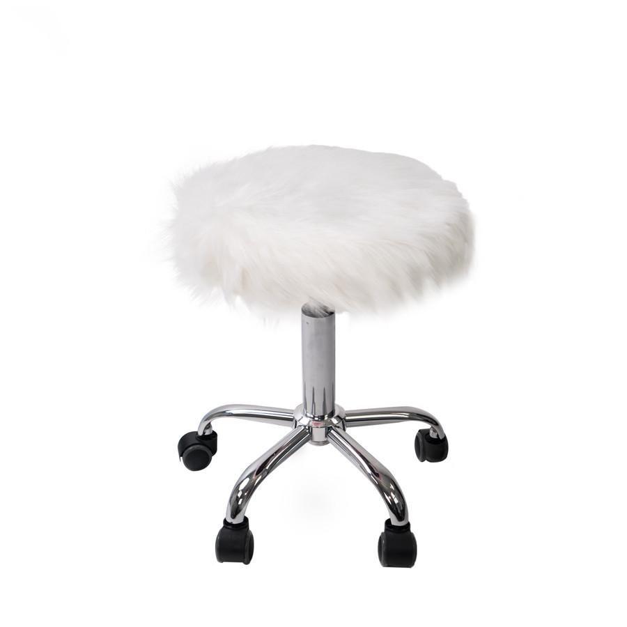 Momo Faux Fur Vanity Stool Impressions Vanity Co Vanity Stool