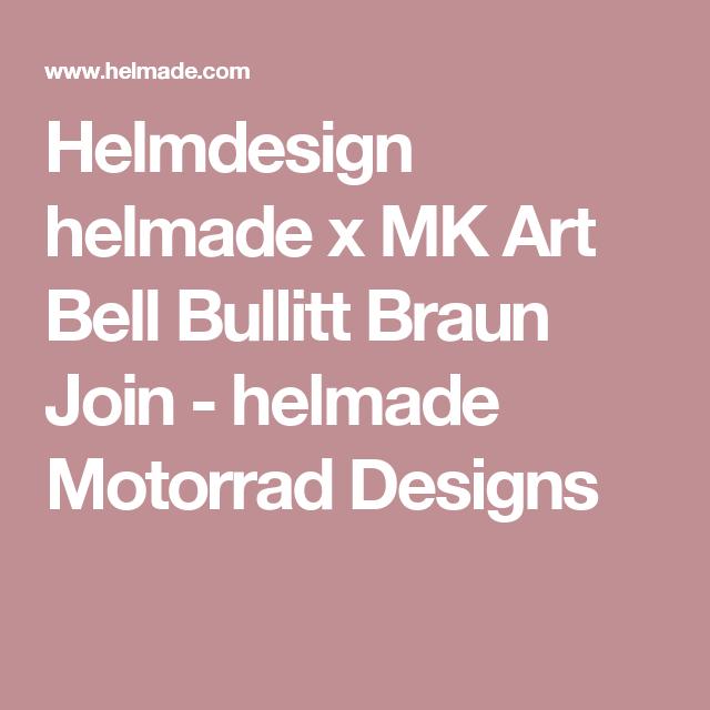Helmdesign helmade x MK Art Bell Bullitt Braun Join - helmade Motorrad Designs