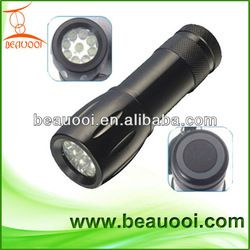 great hand feel,super bright 9LED,AAA dry battery hard anodizing color treatment