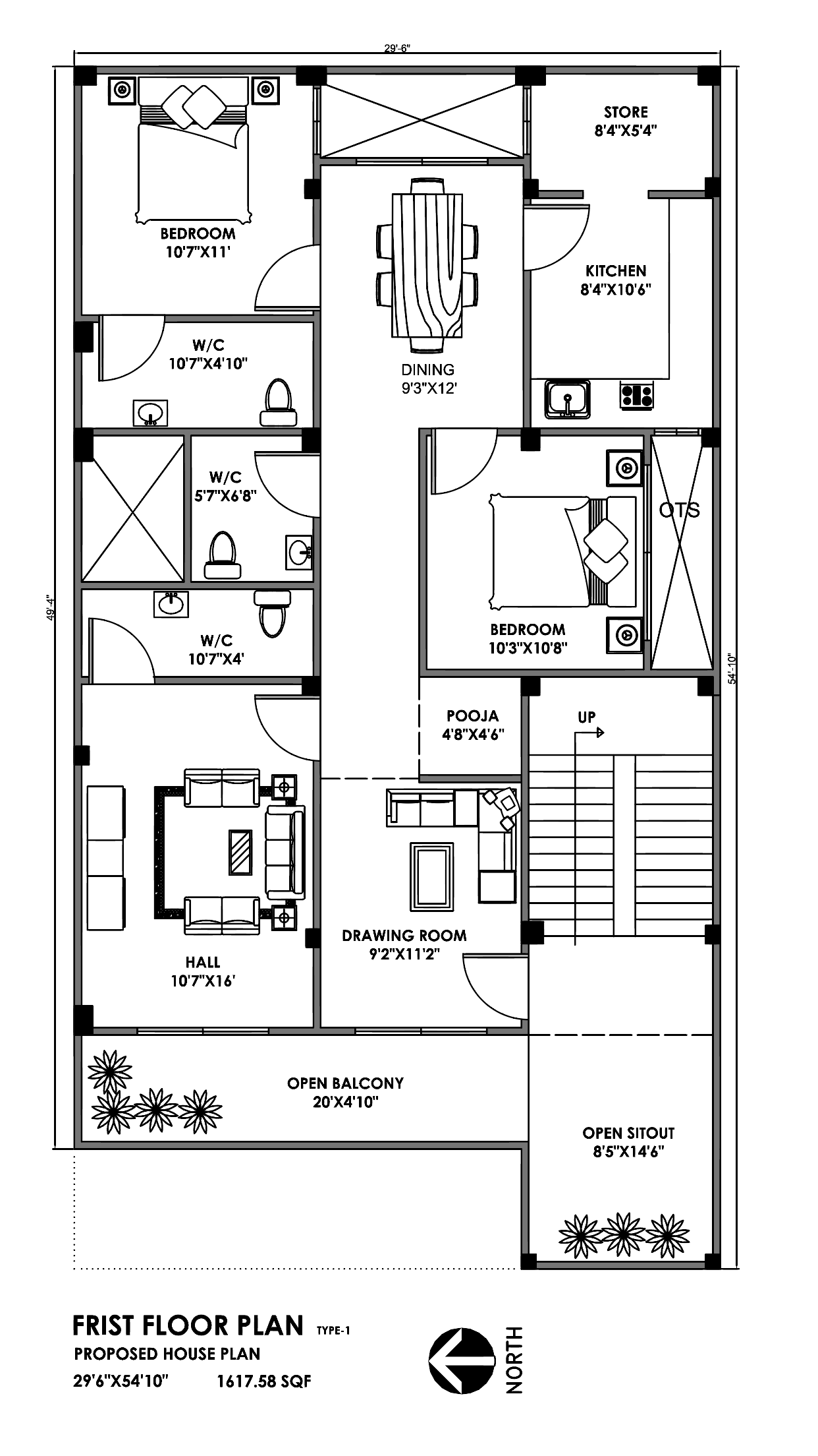 Zohaib31 I Will Convert Hand Sketch Pdf Or Image Drawings To Auotcad For 15 On Fiverr Com 30x50 House Plans Little House Plans New House Plans