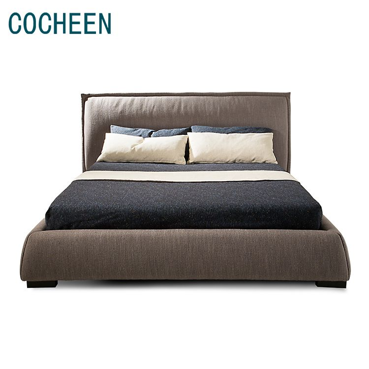 Super September Modern Double Simple Fabric Bed Design Furniture