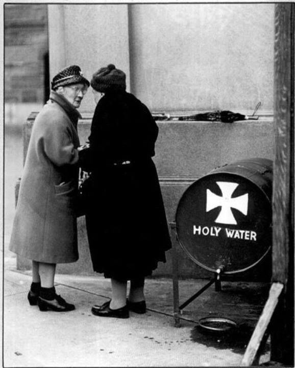 Image result for old ladies taking holy water