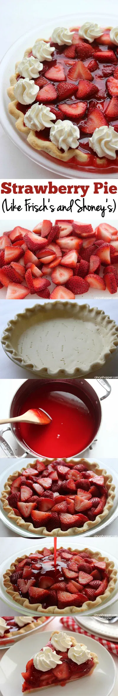 Easy Strawberry Pie like Frisch's and Shoney's!
