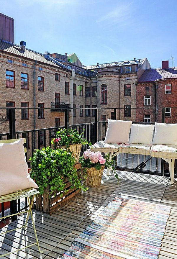 77 Praktische Balkon Designs ? Coole Ideen, Den Balkon Originell ... Balkon Gestaltung 20 Ideen