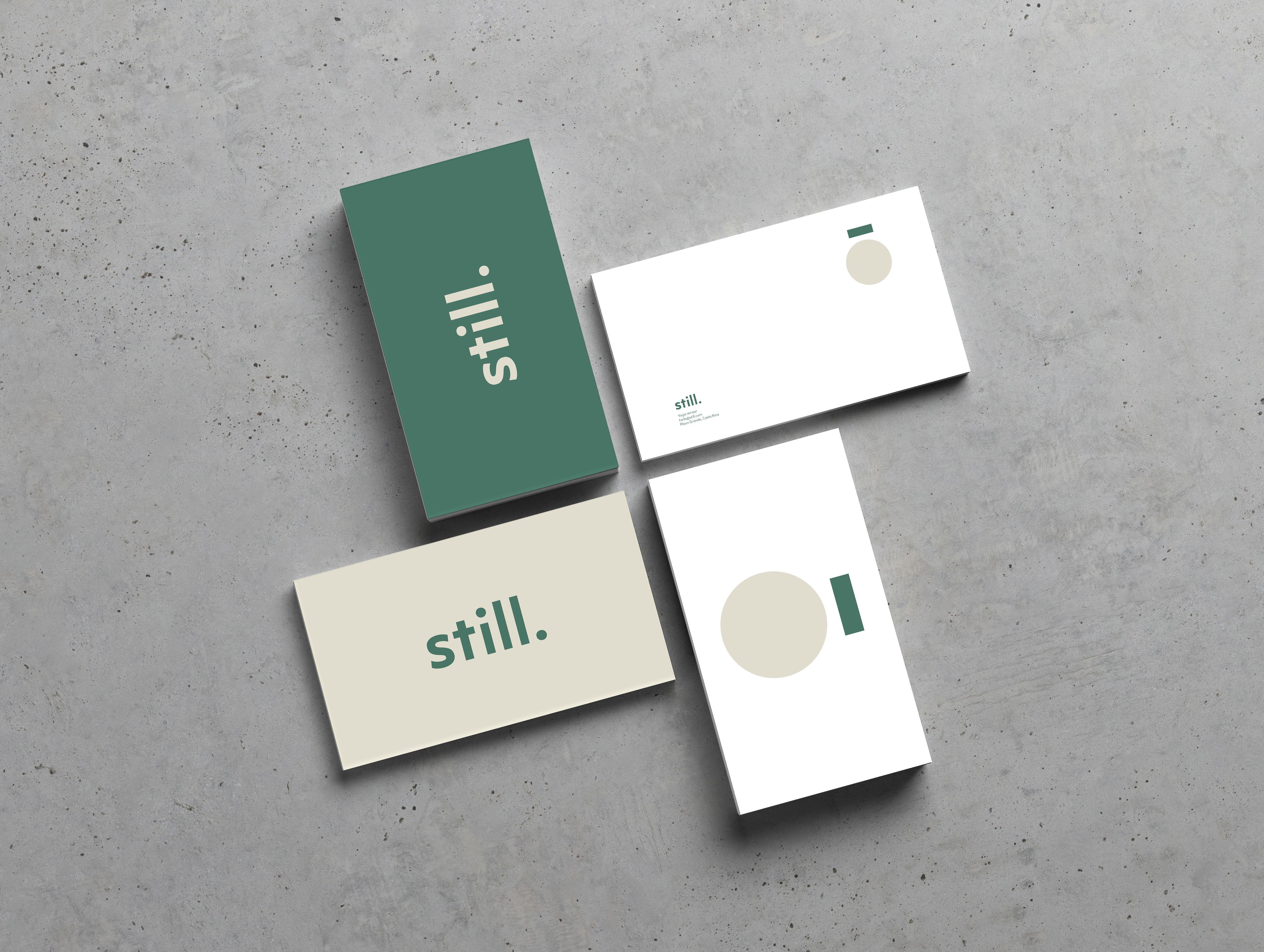 Created a visual identity for still a yoga retreat in