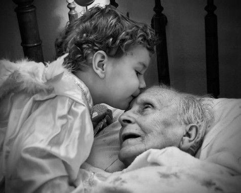 Kissing your grandparents goodnight
