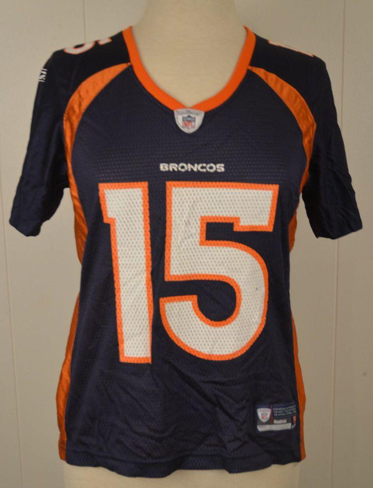 Women s Reebok Denver Broncos Jersey  15 Tim Tebow NFL Medium (8-10) Blue   Reebok  DenverBroncos adacb267b