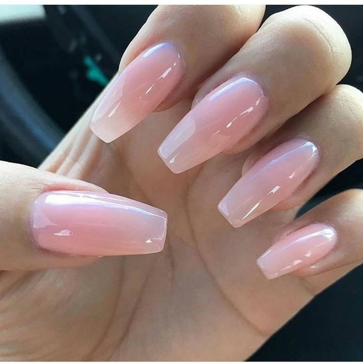 pinterest: @aaasshh Pink powder acrylic with clear gelish Instagra ...